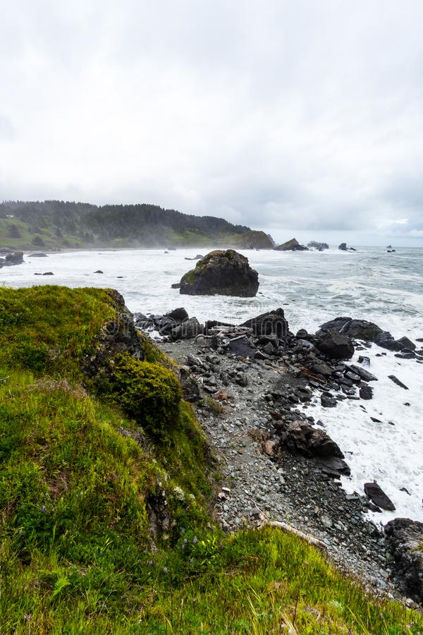 Samuel H Boardman State Park, Oregon, West Coast, Vereinigte Staaten, Travel USA, Outdoor, Adventure, Landschaft, Regenwald stockbilder