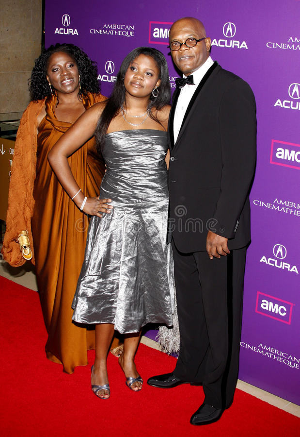 Samuel L. Jackson and LaTanya Richardson. At the 23rd Annual American Cinematheque Award Ceremony Honoring Samuel L. Jackson held at the Beverly Hilton Hotel in stock photography