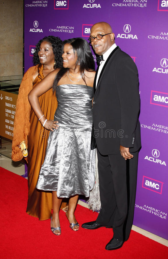 Samuel L. Jackson and LaTanya Richardson. Samuel L. Jackson at the 23rd Annual American Cinematheque Award Ceremony Honoring Samuel L. Jackson held at the royalty free stock image