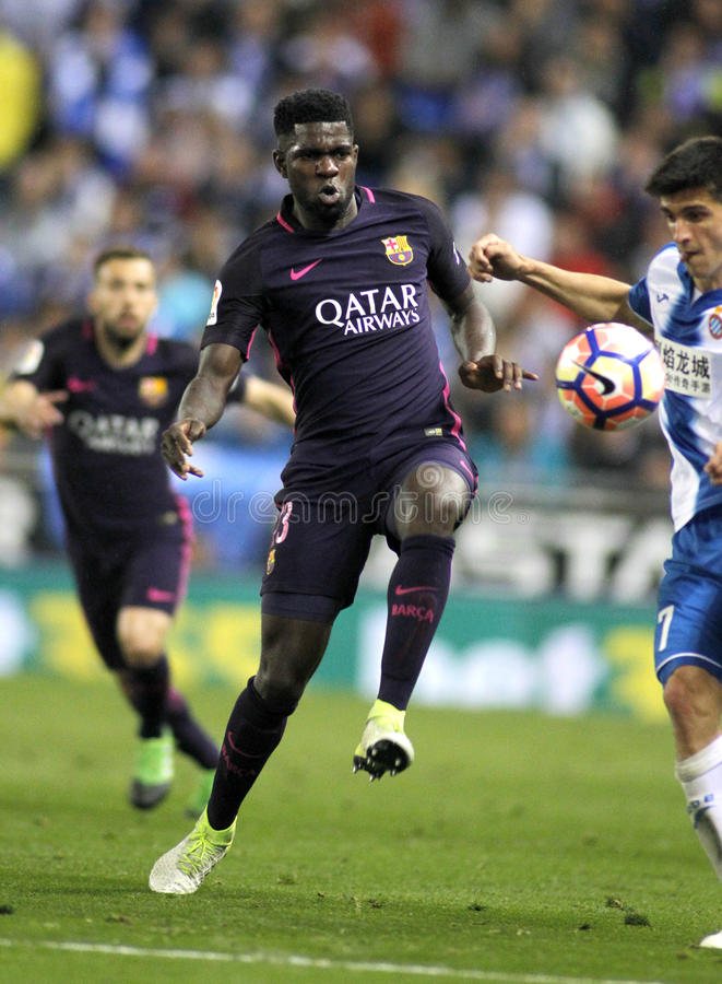 Samuel Umtiti del FC Barcelona fotos de archivo
