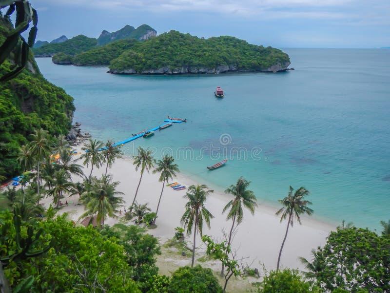 Samui ö i gGolfen av Thailand, Thailand arkivfoto
