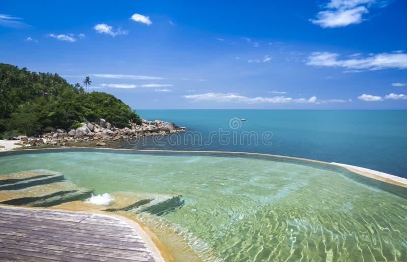 Samui Таиланд ko бассейна безграничности курортного отеля стоковое изображение rf