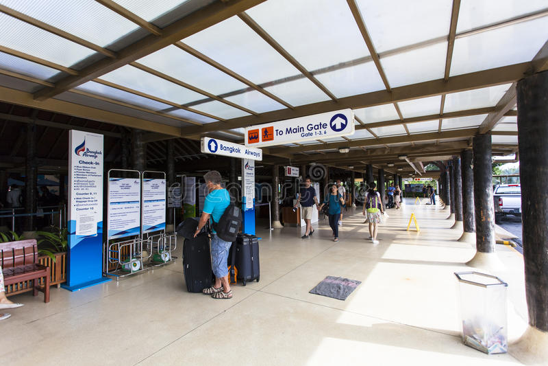 Samui Airport, Thailand stock photography