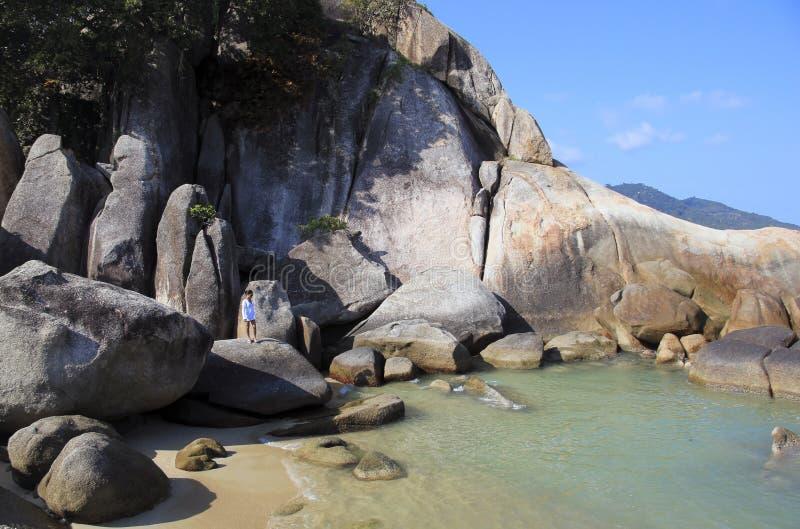 Samui d'esplorazione Tailandia del KOH della spiaggia di lamai immagini stock libere da diritti