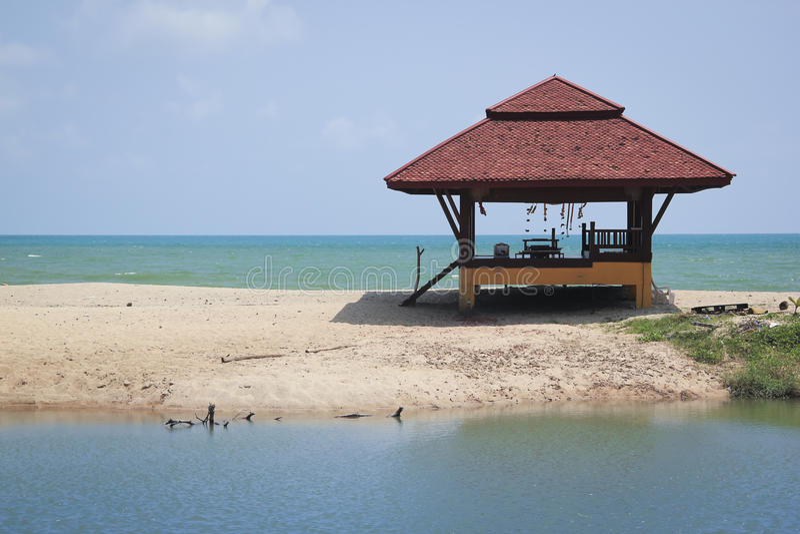 Samui del KOH della spiaggia di lami della capanna della spiaggia fotografia stock libera da diritti