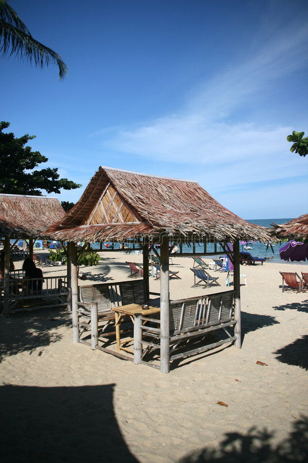 Samui della spiaggia di Lamai del chiosco della spiaggia immagini stock