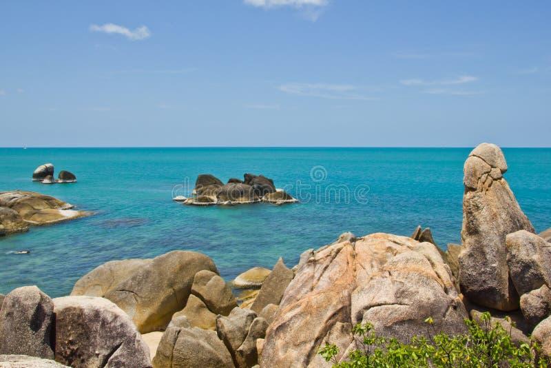Samui première génération Thaïlande de KOH de roche photo stock