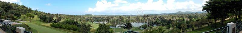 Samui, Tailândia, uma vista panorâmica do restaurante do clube de golfe, em dezembro de 2013, horizontalmente foto de stock