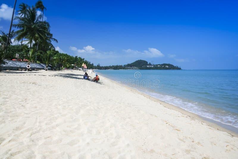 Samui Thailand för koh för strandförsäljarelamai royaltyfri fotografi
