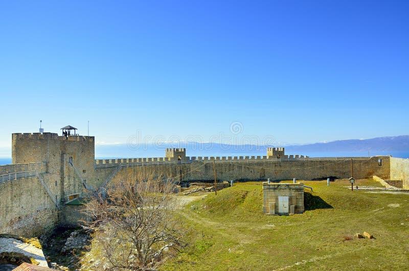 Samuil forteca, Ohrid, Macedonia zdjęcia royalty free