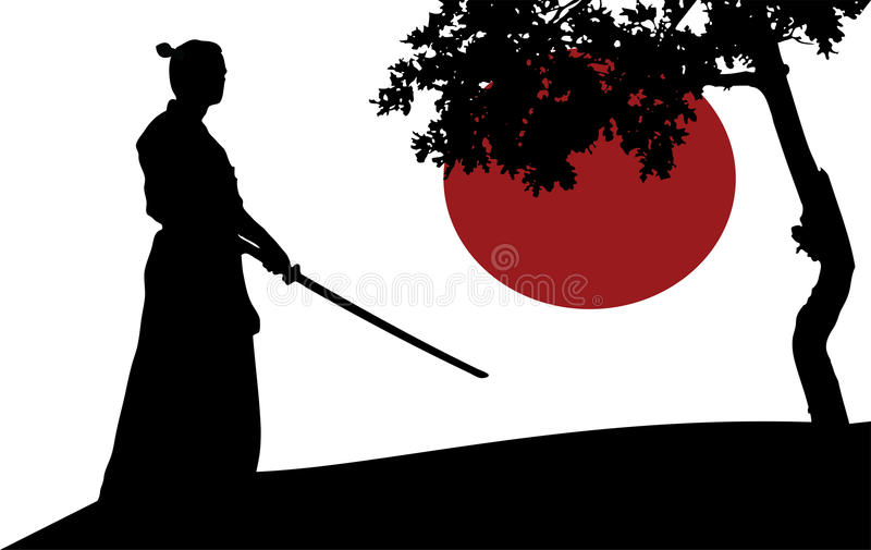 Samurai royalty free illustration