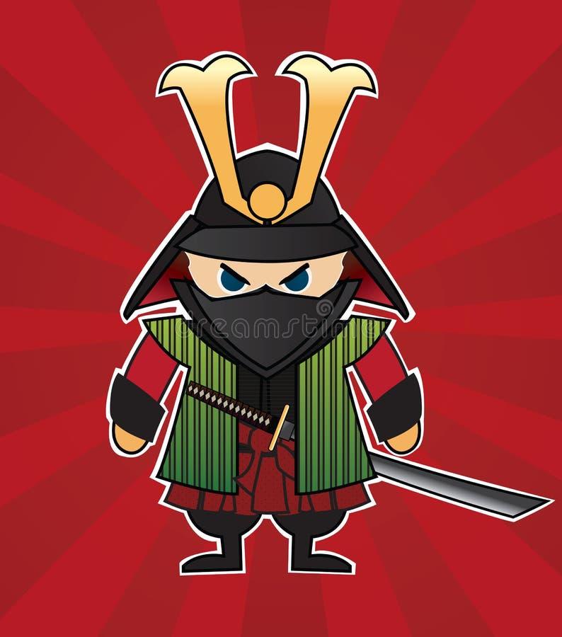 samurai vektor illustrationer