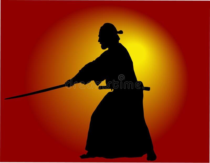 Samurai ilustración del vector