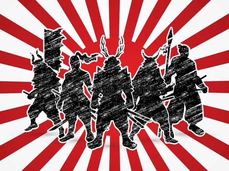 samurai ilustração stock