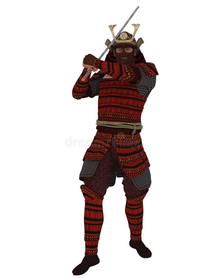 Download Samurai ilustração stock. Ilustração de ataque, renda - 80100982