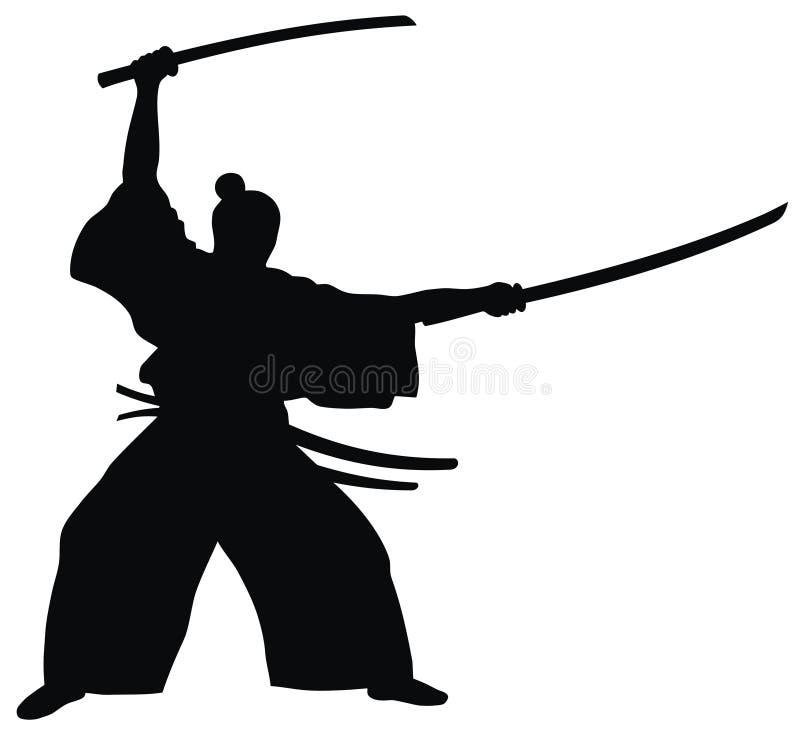 Samurai stock illustration