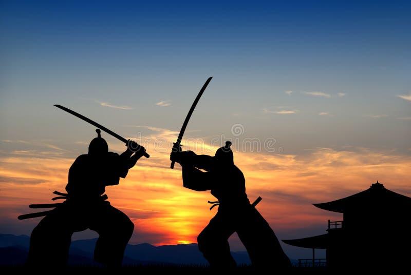 Samurai ilustração royalty free