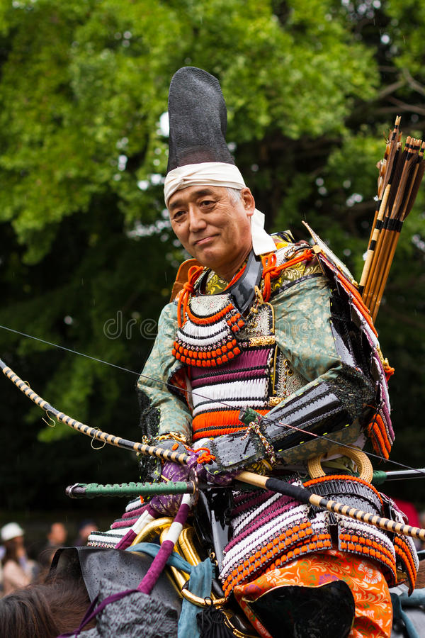 Samurai al festival di Jidai Matsuri, Kyoto, Giappone fotografie stock