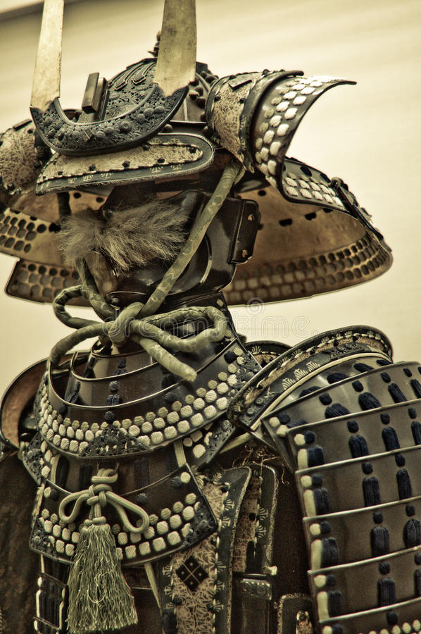 Samurai Armor. At a Castle in Fukuchiyama, Japan stock photos