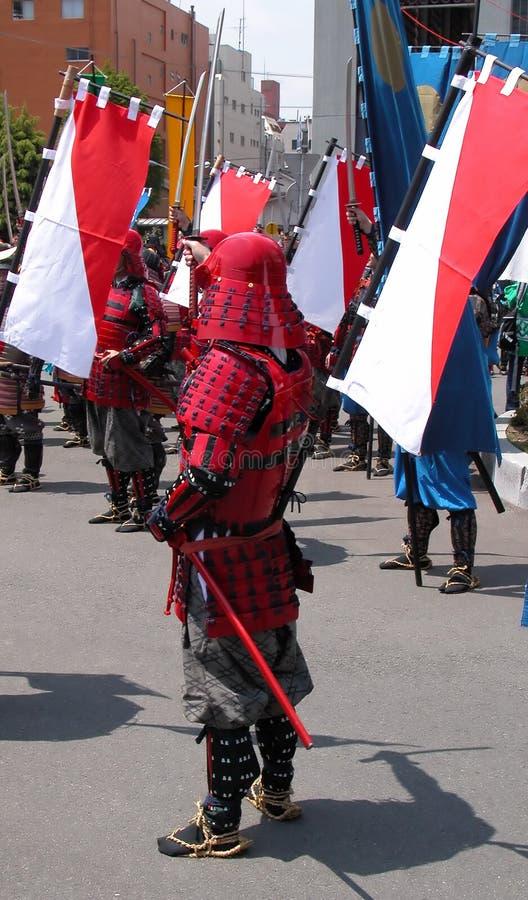Samurai army royalty free stock image
