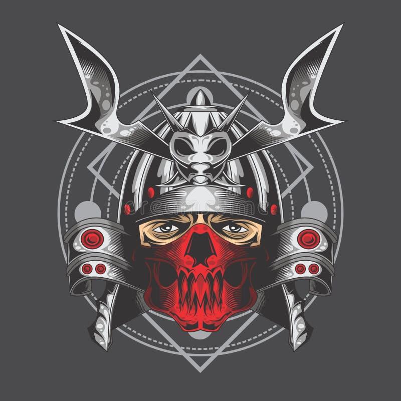 Samurai de prata ilustração royalty free