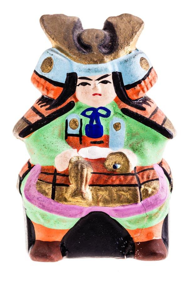Samurai del japonés de la terracota imagenes de archivo