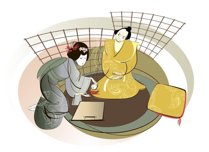 Download Samurai and geisha stock illustration. Illustration of orient - 26869783