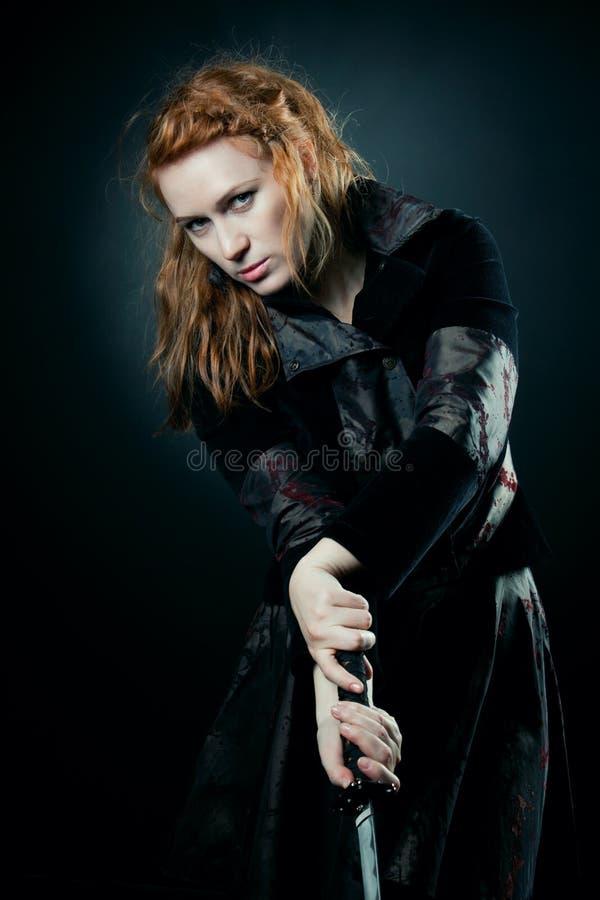 Download Samurai girl stock image. Image of danger, sword, dangerous - 23822315