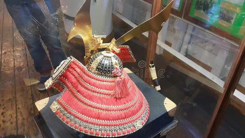 Samurai helmet stock image