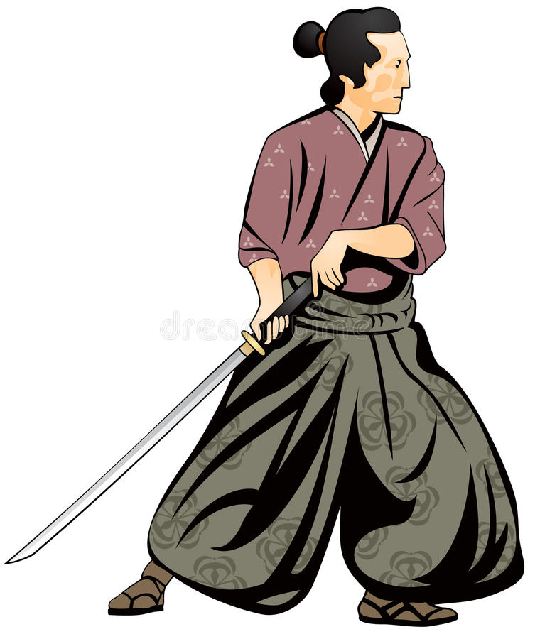 Download Samurai, Japanese Martial Art Stock Vector - Illustration of gamae, japan: 15899229