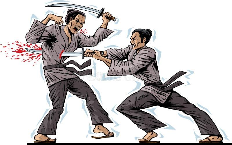 Download Samurai Kill stock vector. Illustration of sandals, fight - 29016891