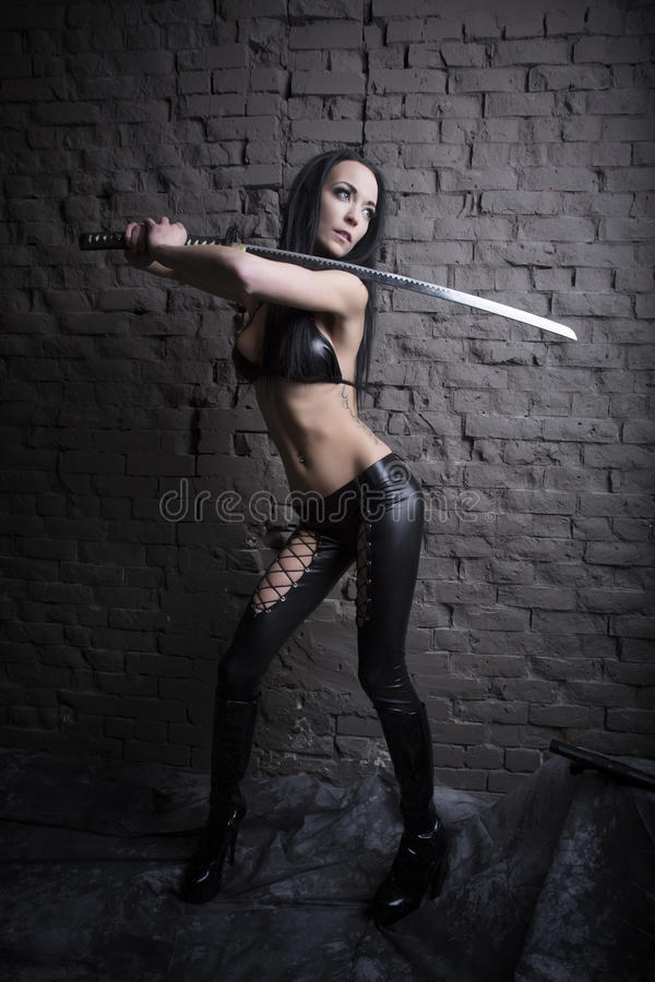 Samurai-Mädchen stockbilder