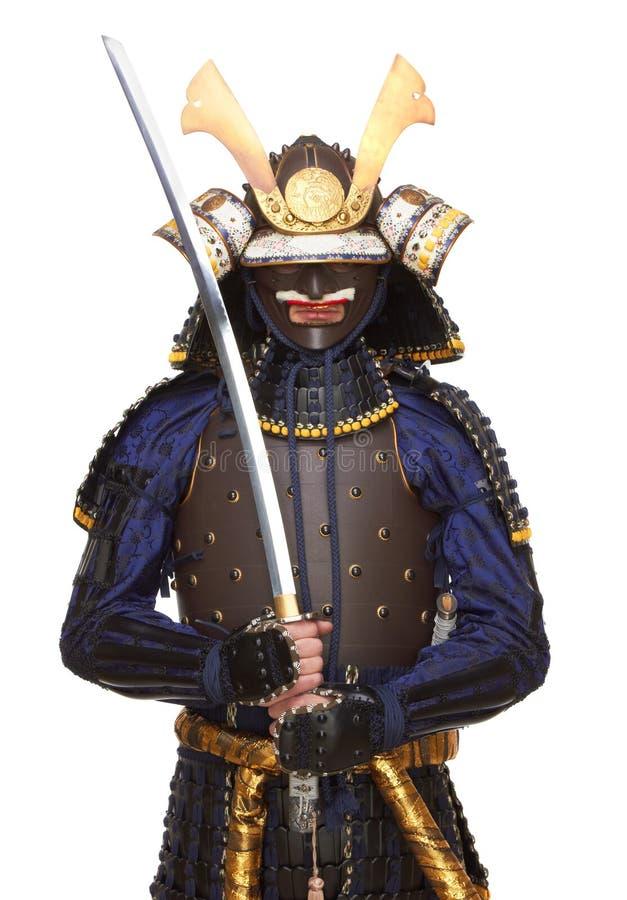 Samurai na armadura imagem de stock royalty free