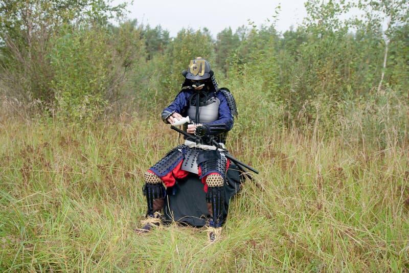 Download Samurai Pouring Himself Sake Stock Photo - Image: 26522844