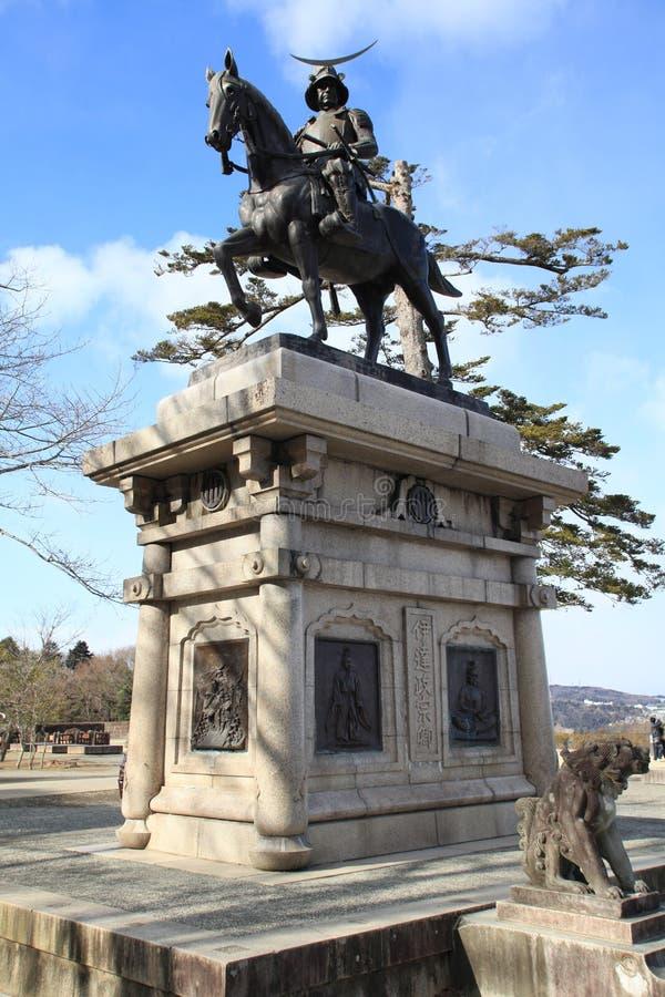 Download Samurai statue in Sendai stock photo. Image of statue - 28042646