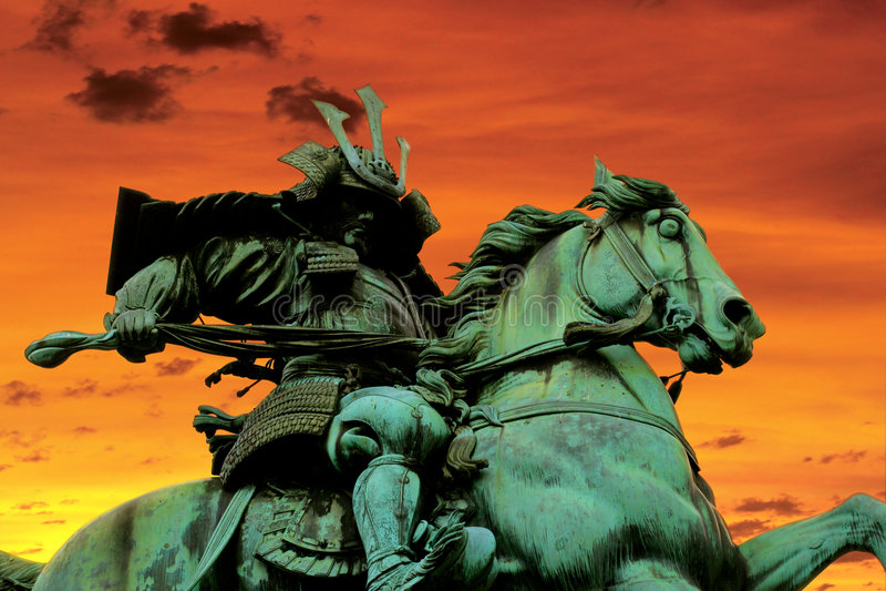 Samurai Warrior stock image
