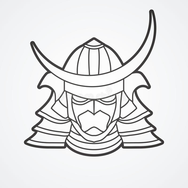 Samurai warrior mask stock vector. Illustration of mask ...