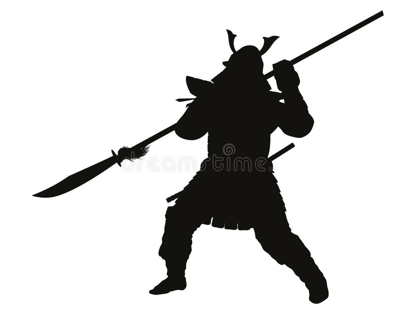 Samurai. Warriors Theme vector illustration