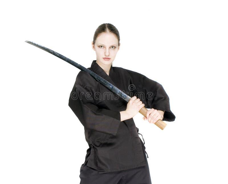 Samuraimädchen stockfoto