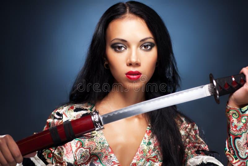 samuraj kobieta obrazy royalty free