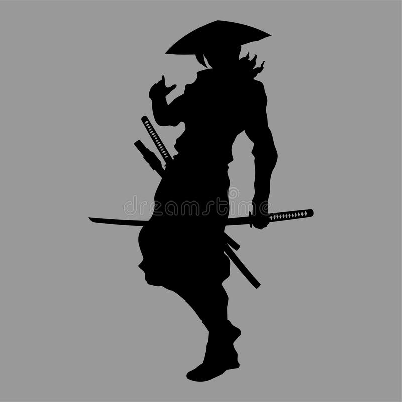 Samuraj sylwetka ilustracji