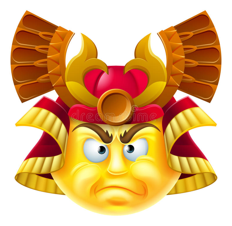 Samuraja Emoji Emoticon ilustracja wektor