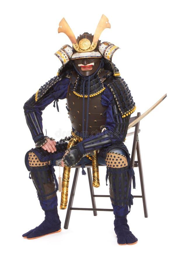 Samurajer i harnesk arkivfoton