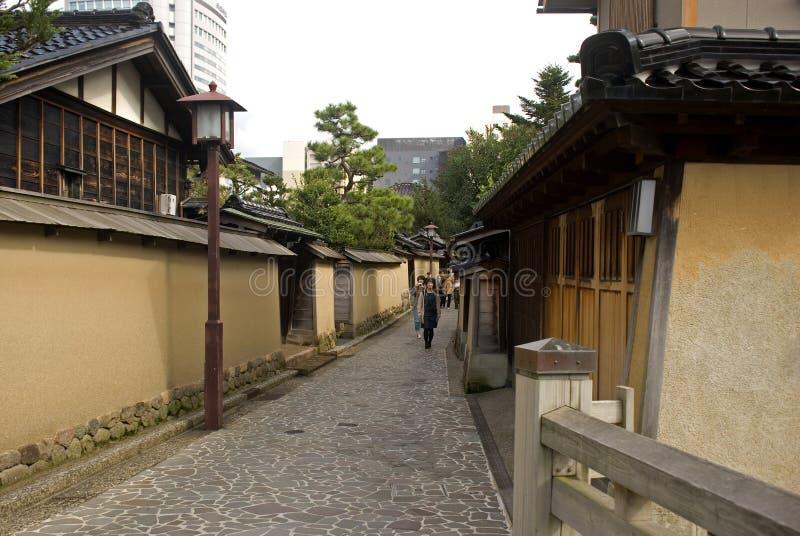 Samurajowie ćwiartują, Kanazawa, Japonia obraz royalty free