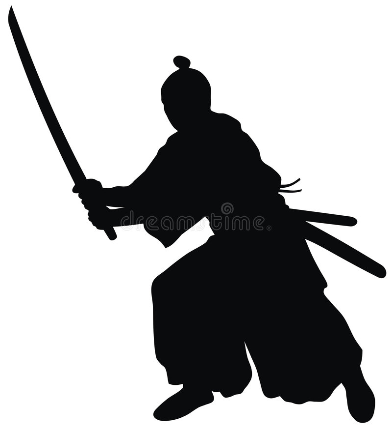 samurajowie ilustracji