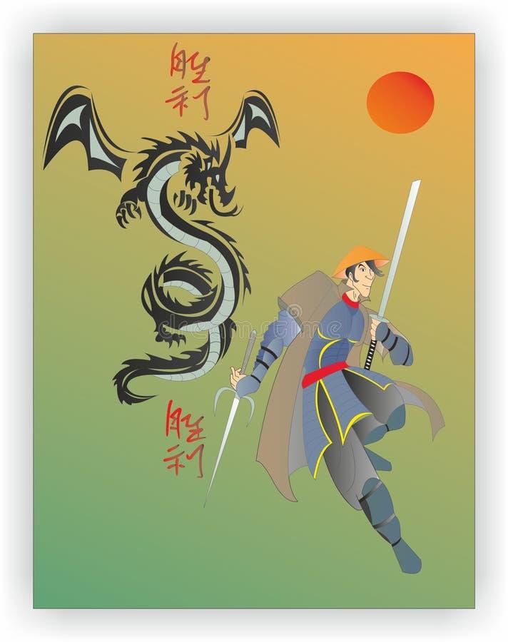 Samurajowie Ronin ilustracji