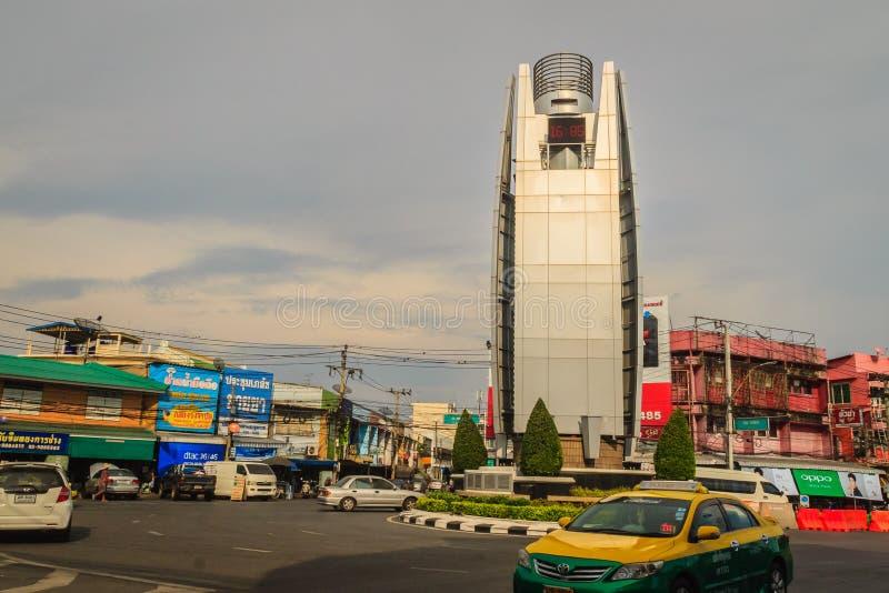 Samut Prakan Thailand - mars 25, 2017: Samut Prakarn digitalt c royaltyfria foton