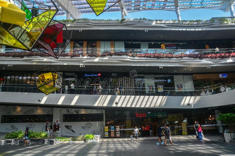 Samut Prakarn, Tailandia, il 25 ottobre 2018: Spazio comune a mega fotografie stock libere da diritti