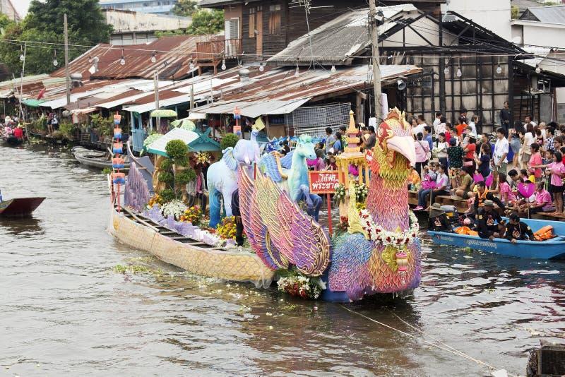 SAMUT PRAKARN, TAILANDIA 7 OTTOBRE 2014: Lotus Giving Festival immagine stock libera da diritti