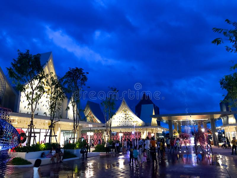 Samutprakarn, Thailand - August 31, 2019 : Central Village Bangkok Luxury Outlet is Thailand first international outlet shopping royalty free stock photography